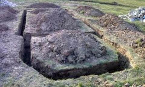 A bronzkori erődítmény feltárási munkálatai