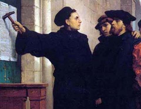 Luther nyilvánosságra hozza tételeit Wittenbergben