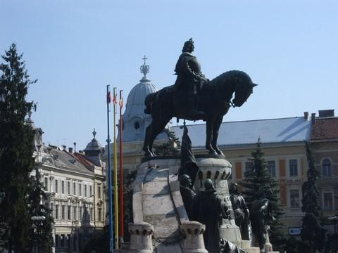 A kolozsvári Mátyás-szobor a felújítás előtt