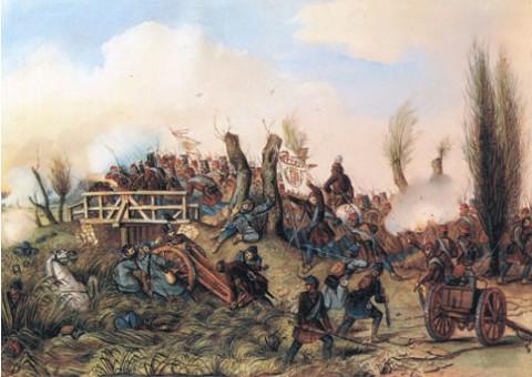 A tápióbicskei csata (április 4.) Than Mór festményén
