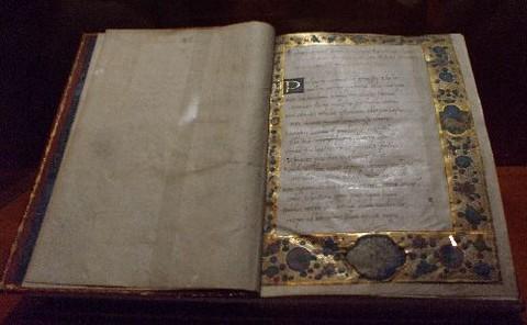 A bizonyíthatóan Janus Pannonius tulajdonát képező kódexek egyike (fotó:papiruszportal.hu)
