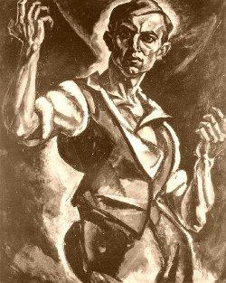 Petar Dobrović: Munkás (önarckép, 1913)