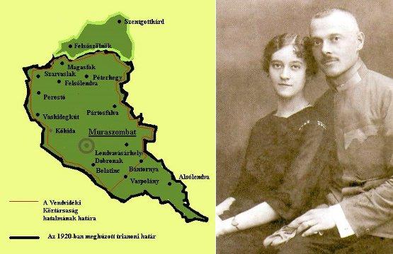 a Vendvidéki Köztársaság és Tkálecz Vilmos nejével