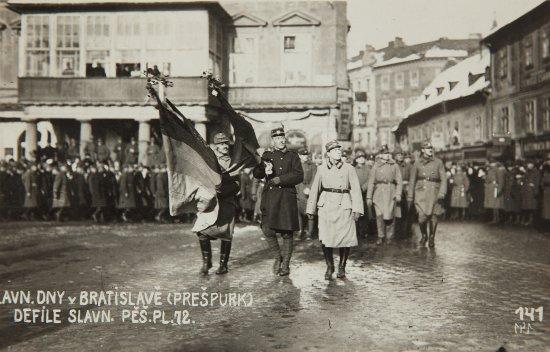 a cseh-szlovák légió felvonulása Pozsonyban, 1919. február 5.