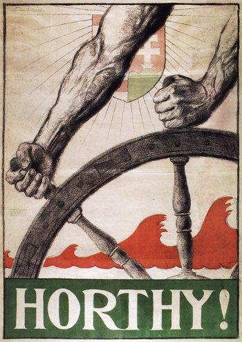 Horthy-plakát a kormányzóválasztás előtt
