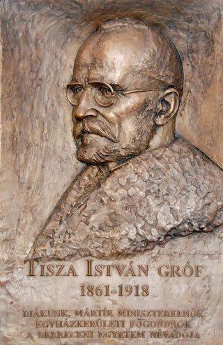 Tisza István domborműve (forrás: Harangszó)