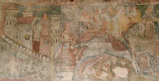 a Szent László-legenda a rimabányai templom falán