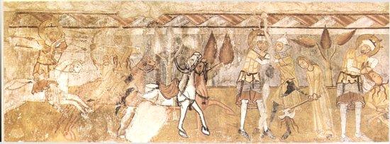 a Szent László-legenda a gelencei templom falán