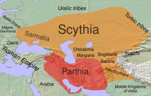 a Szkíta Birodalom (forrás: Wikipédia)