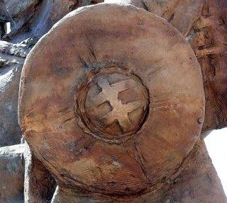 pajzs a Szvatopluk-szobron