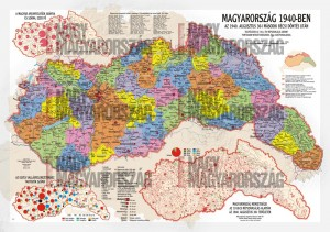 Magyarország 1940-ben, a II. bécsi döntés után (Nagy Magyarország feliratok nélkül)
