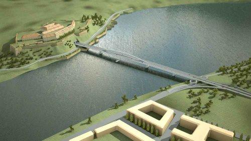 az új Ferenc József híd látványterve