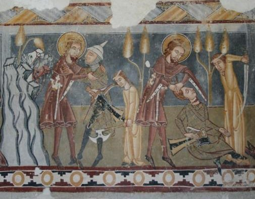 freskó a homoródkarácsonyfalvi unitárius templomban