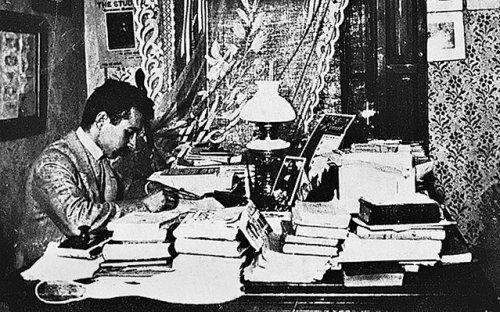 Szabó Ervin dolgozószobájában