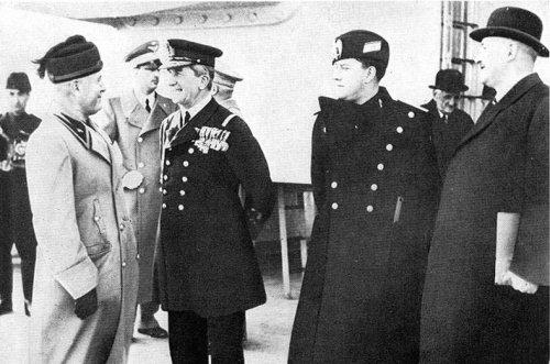Mussolini, Horthy, Ciano, Kánya