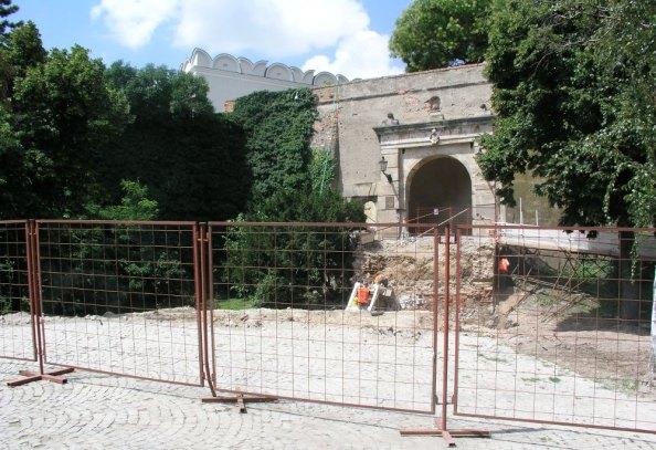 itt állt a híd (fotó: nitralive.sk)