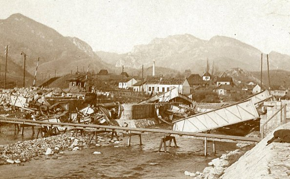 Petrozsény vasútállomása a román betörés után