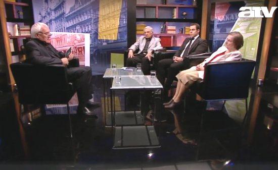 Havas Henrik, Csernok Attila, Bödők Gergely és Ormos Mária az ATV Tabu című műsorában (forrás: atv.hu)