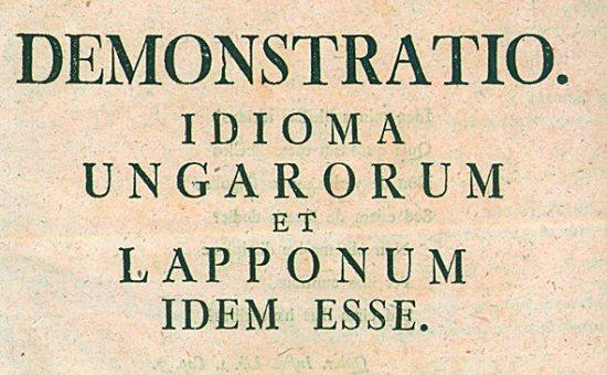 Demonstratio idioma Ungarorum et Lapponum idem esse