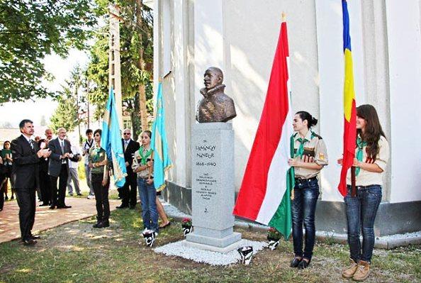 Kövér László a szoboravatási ünnepségen (Fotó: MH)