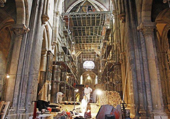 a pannonhalmi bazilika rekonstrukciója