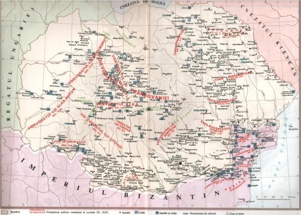 Románia a 9-13. században (Erdély történetével foglalkozó 1984-es román könyv melléklete)