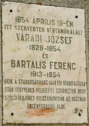 Várady József és Bartalis Ferenc emléktáblája Sepsiszentgyörgyön