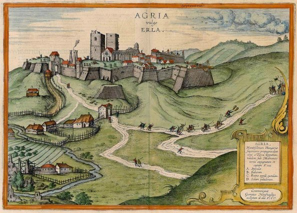 Eger metszeten (megjelent: Braun & Hogenberg: Civitates Orbis Terrarum. Vol. VI. Köln, 1617)