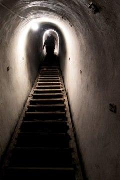 az Árpád-vonal egyik felújított alagútja