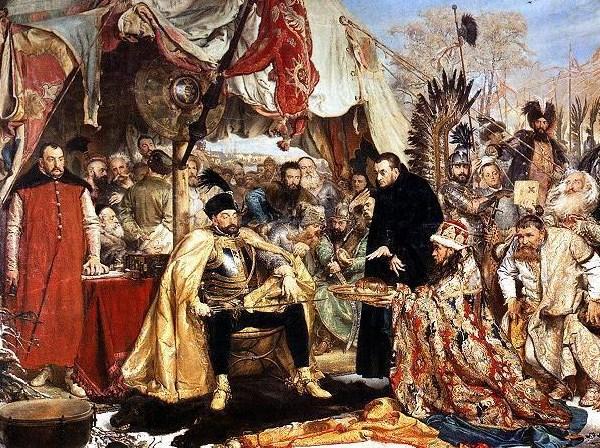 Jan Matejko: Báthory Pszkov alatt (1872, részlet)