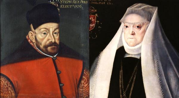 Báthory István lengyel király és felesége, Jagelló Anna