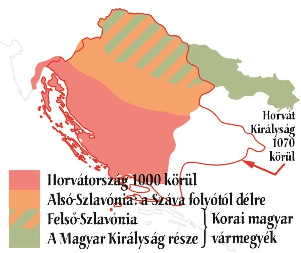 Horvátország a 10-11. században(térkép: Lazányi János, Nagy Magyarország 2013/2)