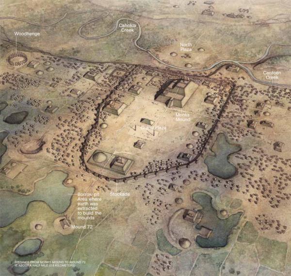 Cahokia madártávlatból (National Geographic)