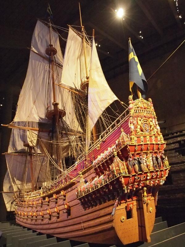 A Vasa hadihajó modellje (fotó: wikipedia.org)